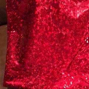 Red metallic fabric